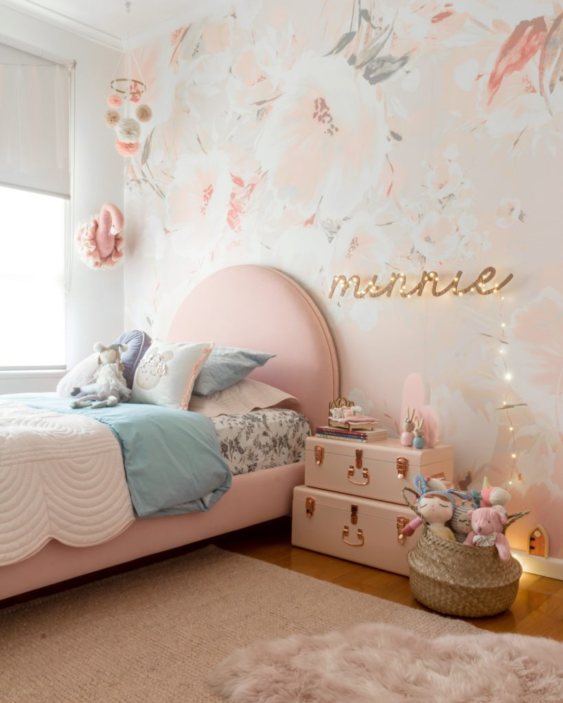 Minty Real Room Tours: Pretty in Pink Minnie's Toddler Room