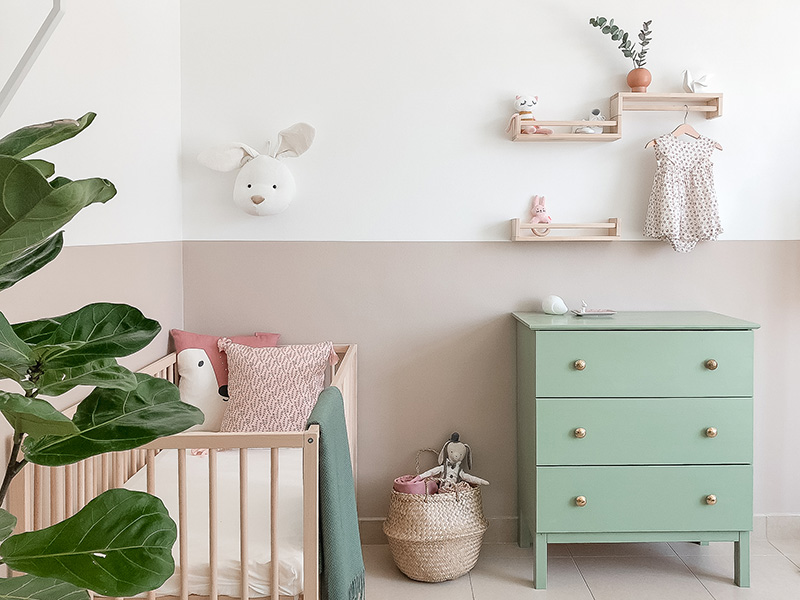 Real Room Reveal- Mila's Nursery on a Budget